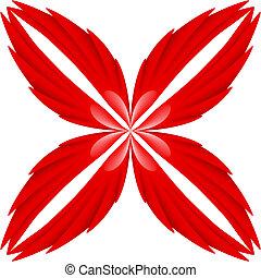 skrzydełka, czerwony