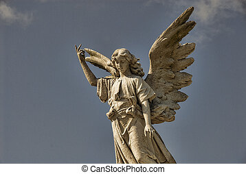 skrzydlaty, statua anioła