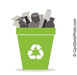 skrzynia, recycling, zielony