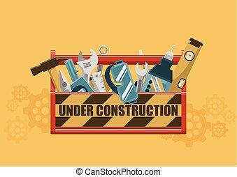 skrzynka na narzędzia, zbudowanie, pod
