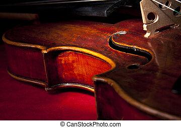 skrzypce, instrument, sztuka, zawiązywać, muzyka