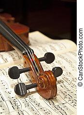 skrzypce, muzykować listek