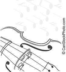skrzypce, tło