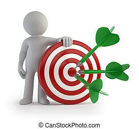 skud, target, folk, -, lille, 3, mål