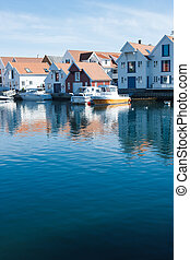 skudeneshavn, village, dans, norvège
