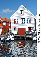 Skudeneshavn village in Norway