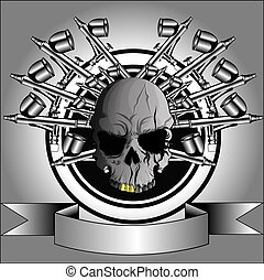 skull airbrush - Figure logo for airbrushing t-shirts, for...