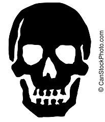 Skull - An illustrated black skull.