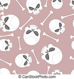 skull and bones seamless pattern
