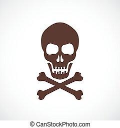 Skull and bones vector symbol