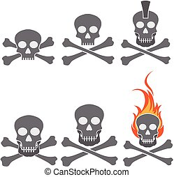 Skull and cross bones vector sketch