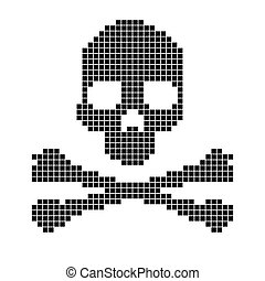 Skull and crossbones collected from pixels. - Skull and...