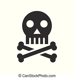 skull and crossbones, death sign, healthcare and medical related solid icon
