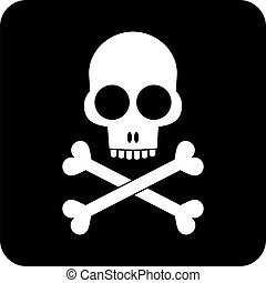Skull and crossbones - icon - Skull and crossbones - black...