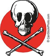 Skull and crossbones icon . Vector illustration eps10