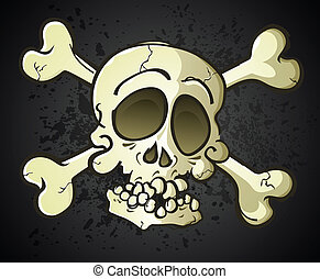 Skull and Crossbones Jolly Roger Ca - A skull and crossbones...