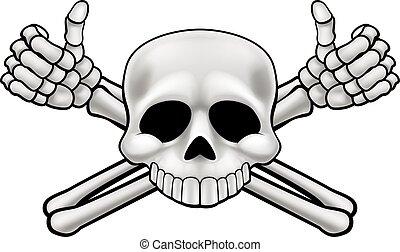 Skull and Crossbones - Jolly Roger pirate skull and...