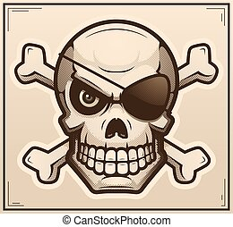 Skull and Crossbones Poster Illustration