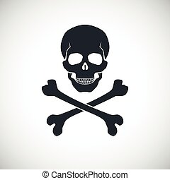 Skull and crossbones sign. - Skull and crossbones symbol,...