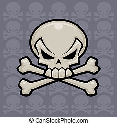 Skull and Crossbones - Skull and crossbones vector...