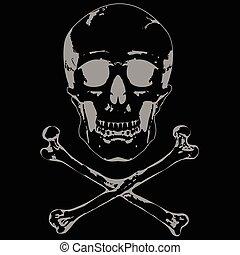 Skull and crossbones vector 2