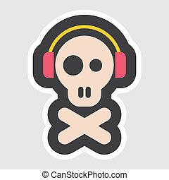 Skull and Crossbones vector icon