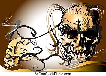 skull and dead