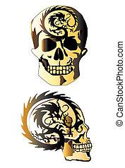 skull-and-dragon-tattoo