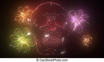 Skull and Flowers video animation