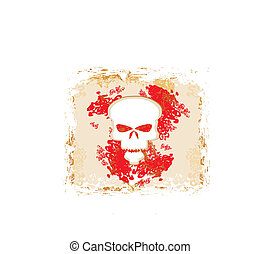 skull and grunge vector background
