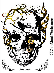 skull-and-line-thai-idea