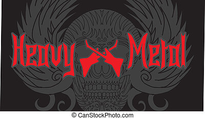 skull and music vector art