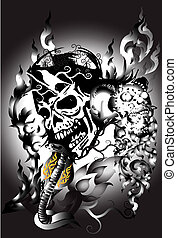 skull-and-snake