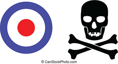 skull and target