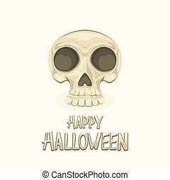 Skull and text Happy Halloween