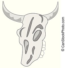 Skull animal on white background is insulated - Vector ...