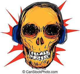 Skull art and music