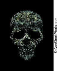 Skull Art Collage