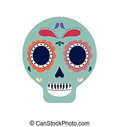 skull art mexican culture icon. Vector graphic