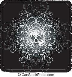 Skull background design