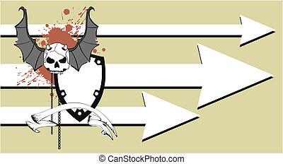 skull bat wings tattoo12