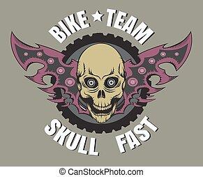 Skull bike logos