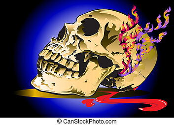 skull-blood-and-tattoo