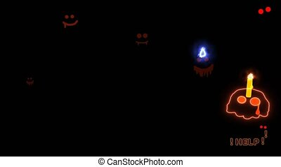 Skull candle scaring and cried for help run away while the ...