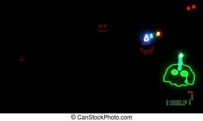 Skull candle tried to run away and cried for help while the ...