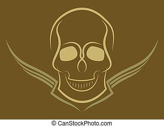 Skull - Abstract vector illustration of a skull