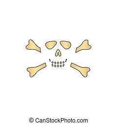 Skull crossbones computer symbol
