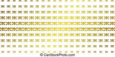 Skull Crossbones Golden Halftone Pattern - Skull crossbones ...
