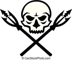 skull-crossed-fishing-spear-fish-hook-icon