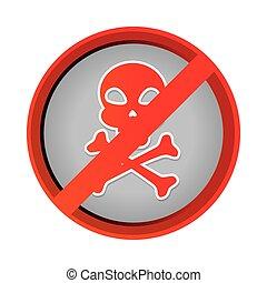 skull danger symbol icon